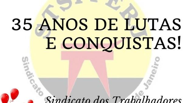 O SINDICATO DOS PORTUÁRIOS DO RIO DE JANEIRO COMPLETA 35 ANOS