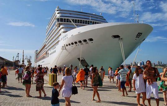Rio de Janeiro recebeu cinco navios de cruzeiro neste fim de semana