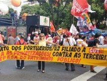 Portuários/RJ participam de Dia Nacional de Paralisação #15M