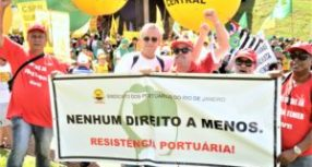 Sindicato dos Portuários do Rio participa do ato #OcupaBrasília