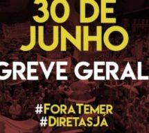 Centrais sindicais convocam Greve Geral para o dia 30 de junho
