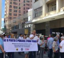 Portuários fazem ato público contra a Reforma Trabalhista