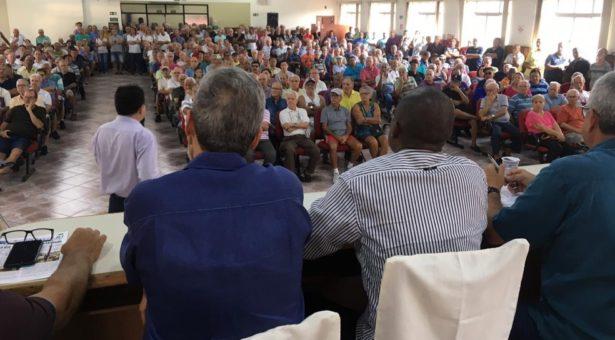 Novo plano para evitar falência do Portus é apresentado a beneficiários em Santos, SP