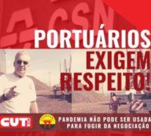 CSN, Portuários exigem respeito